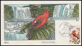 2311 / 22c Iiwi 1987 Collins Hand-Painted First Day Cover