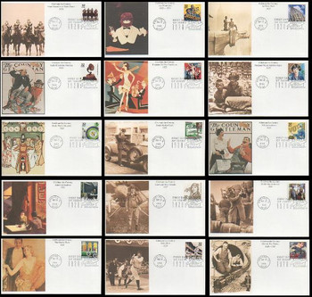 3184a-o / 32c Celebrate The Century ( CTC ) 1920s Set of 15 Mystic First Day Covers