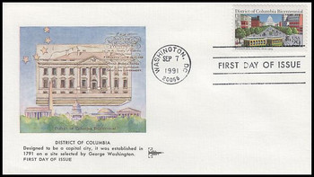 2561 / 29c District of Columbia Gill Craft 1991 First Day Cover