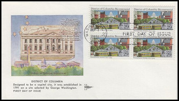 2561 / 29c District of Columbia Block Gill Craft 1991 First Day Cover