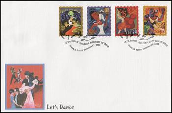 3939 - 3942 / 37c Let's Dance Miami , FL Postmark Oversized Large Fleetwood 2005 FDC