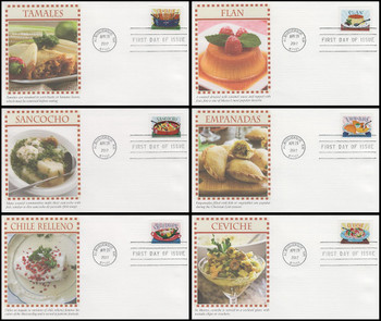 5192 - 5197 / 49c Delicioso Set of 6 Fleetwood 2017 First Day Covers