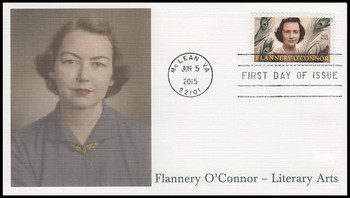 5003 / 93c Flannery O'Connor : Literary Arts Series 2015 Fleetwood FDC