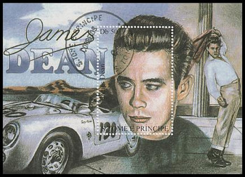 1168 / Db 50 James Dean São Tomé and Príncipe CTO Souvenir Sheet