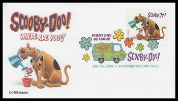 5299 / 50c Scooby-Doo, Where Are You? Digital Color Postmark FDCO Exclusive 2018 FDC