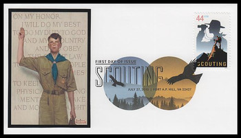 4472 / 44c 100 Years of Scouting : Boy Scouts Digital Color Postmark FDCO Exclusive 2010 FDC #2