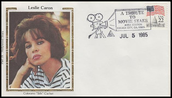 Leslie Caron : ASDA Tribute To Movie Stars Colorano Silk 1985 Event Cover