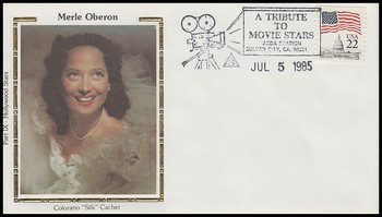 Merle Oberon : ASDA Tribute To Movie Stars Colorano Silk 1985 Event Cover