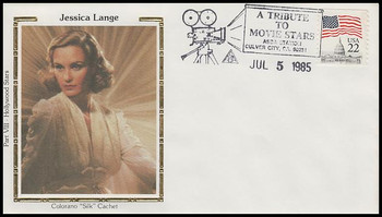 Jessica Lange : ASDA Tribute To Movie Stars Colorano Silk 1985 Event Cover