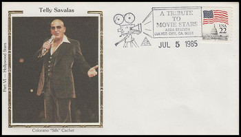 Telly Savalas : ASDA Tribute To Movie Stars Colorano Silk 1985 Event Cover