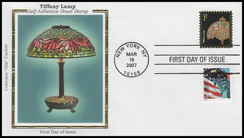 3749 / 1c Tiffany Lamp : American Design Series 2007 Colorano Silk First Day Cover