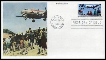 3211 / 32c Berlin Airlift - 50th Anniversary 1998 Mystic First Day Cover
