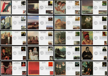 3236a-t / 32c Four Centuries of American Art  Set of 20 Mystic 1998 FDCs
