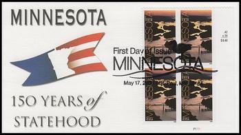 4266 / 42c Minnesota Statehood Plate Block Lower Right Fleetwood 2008 FDC