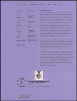4704b / 49c Purple Heart 2014 USPS Souvenir Page #1441
