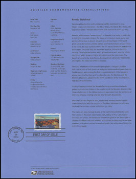 4907 / 49c Nevada : Statehood Series 2014 USPS Souvenir Page #1428
