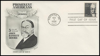 1295 / $5 John Bassett Moore Fleetwood 1966 First Day Cover