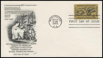 1201 / 4c Apprenticeship 1962 Fleetwood First Day Cover