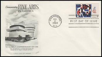1259 / 5c Fine Arts 1964 Fleetwood First Day Cover