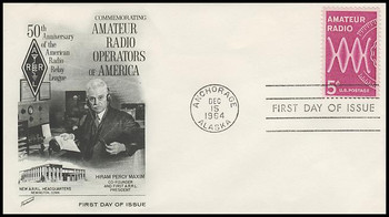 1260 / 5c Amateur Radio Fleetwood 1964 First Day Cover