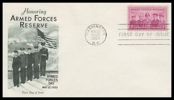1067 / 3c Armed Forces Reserve Fleetwood 1955 First Day Cover