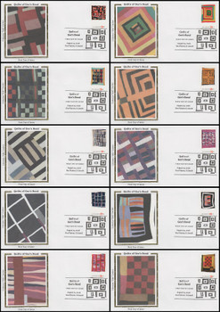 4089 - 4098 / 39c Gee's Bend Quilts Set of 10 Colorano Silk 2006 FDCs