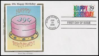 4079 / 39c Happy Birthday 2006 Colorano Silk FDC
