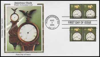 3762 / 10c American Clock Coil Pairs Colorano Silk 2006 FDC