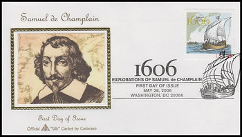 4073 / 39c Voyage of Samuel Champlain Washington, DC Postmark 2006 Fleetwood FDC