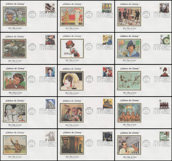 3184a-o / 32c Celebrate The Century ( CTC ) 1920s Set of 15 Colorano Silk First Day Covers