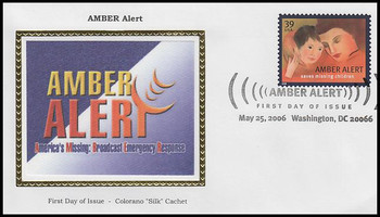 4031 / 39c Amber Alert : Washington, DC Pictorial Postmark 2006 Colorano Silk FDC