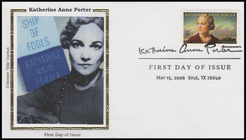4030 / 39c Katherine Ann Porter : Literary Arts Series 2006 Colorano Silk FDC