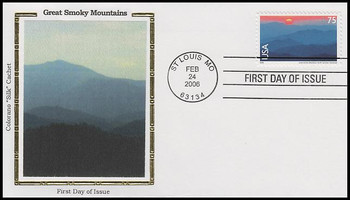 C140 / 75c Great Smoky Mountains Airmail 2006 Colorano Silk FDC