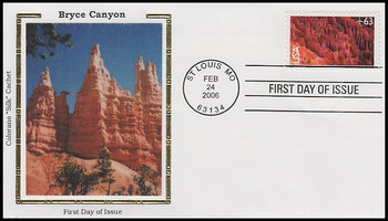 C139 / 63c Bryce Canyon  Airmail 2006 Colorano Silk FDC