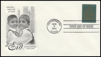 4800 / 46c Eid Greetings : Holiday Celebrations 2013  Artcraft First Day Cover