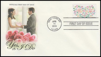 4765 / 66c Yes , I Do : Wedding Series 2013 Artcraft First Day Cover