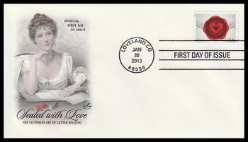 4741 / 46c Sealed With Love : Love Series 2013 Artcraft First Day Cover