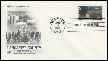 C150 / $1.05 Lancaster County, PA : Scenic American Landscapes Series Airmail 2012 Artcraft FDC