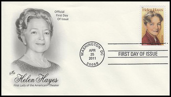 4525 / 44c Helen Hayes Artcraft 2011 First Day Cover
