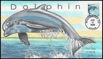 4388 / 64c Dolphin 2009 Collins Hand-Painted FDC