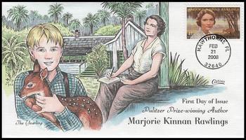 4223 / 41c Marjorie Kinnan Rawlings : Literary Arts Series 2008 Collins Hand-Painted FDC