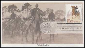 2818 / 29c Buffalo Soldiers 1994 Mystic FDC