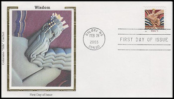 3766 / $1 Wisdom 2003 Colorano Silk First Day Cover