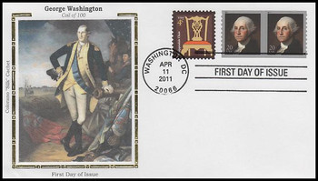 4512 / 20c George Washington Coil Pair 2011 Colorano Silk FDC