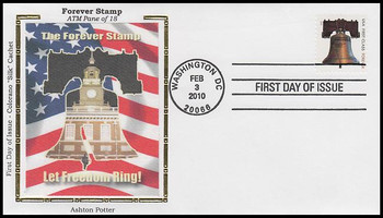 4437 / 44c Forever Liberty ATM Booklet Single Colorano Silk 2010 First Day Cover