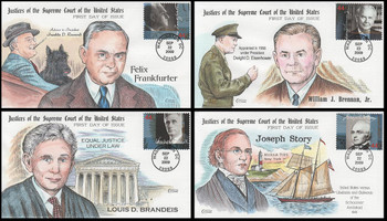 4422 a - d / 44c Justices of the Supreme Court Set of 4 Collins Hand-Painted 2009 First Day Covers