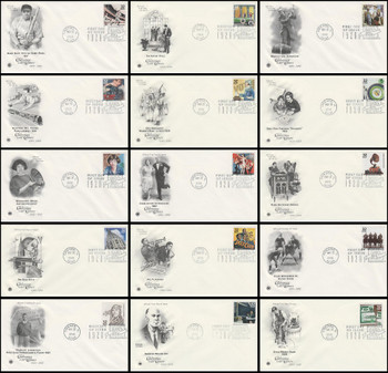 3184a-o / 32c Celebrate The Century ( CTC ) 1920s Set of 15 PCS First Day Covers