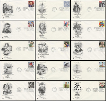 3185a-o / 32c Celebrate The Century ( CTC ) 1930s Set of 15 PCS FDCs