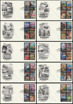 4033 - 4072 / 39c Wonders of America All 40 Stamps On 10 Artcraft 2006 FDCs