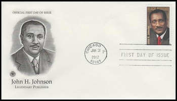 4624 / 45c John H. Johnson : Black Heritage Series 2012 PCS FDC